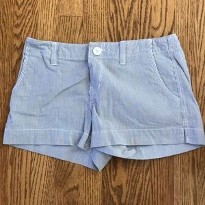 Blue stripped shorts size 5 juniors